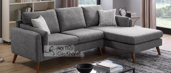 Sofa Mini Góc Nhỏ Màu Xám