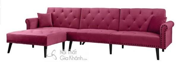 Sofa Góc Nhỏ Màu Hồng