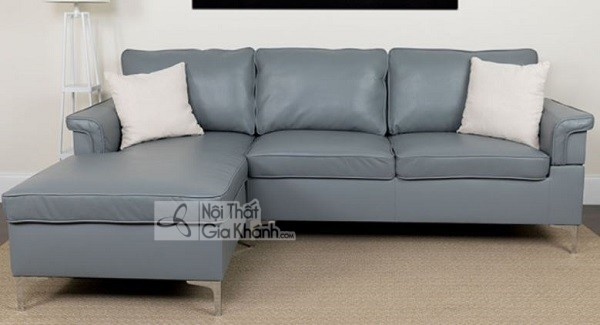 Sofa Mini Góc Nhỏ Gọn Bằng Da