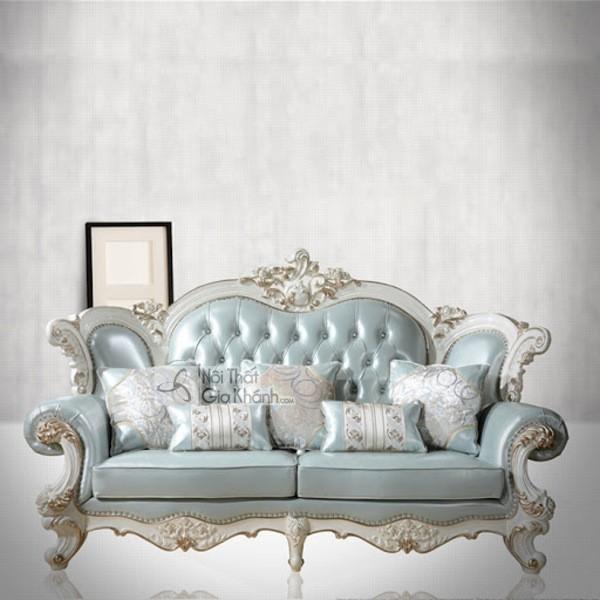 Ghế Sofa Hoàng Gia Đẹp Màu Xanh Ngọc