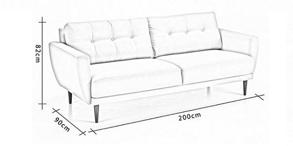 kích thước ghế sofa 2 chỗ