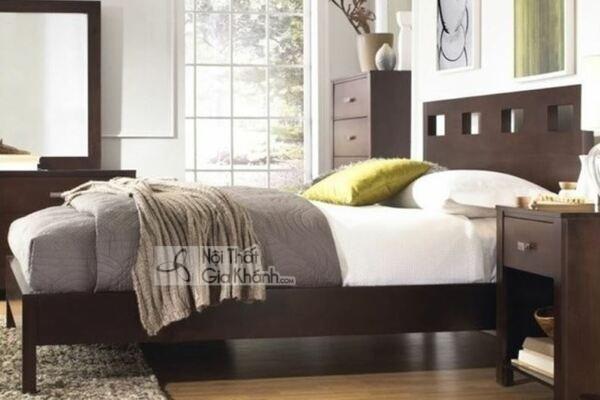 Mẫu Giường Ngủ Gỗ Tự Nhiên Hiện Đại
