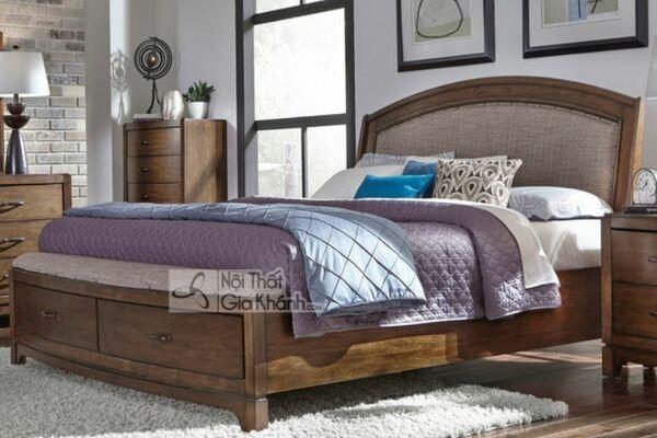 Giường Ngủ Gỗ Tự Nhiên Ấm Cúng