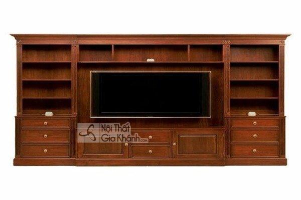 7 mẫu kệ tivi gỗ hương phòng khách được yêu thích nhất