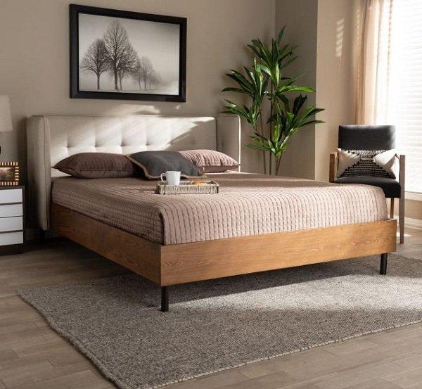 Giường êm ái bằng gỗ óc chó