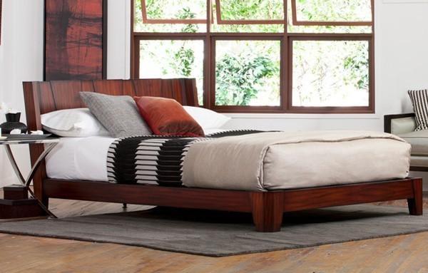 Mẫu giường bằng gỗ tự nhiên