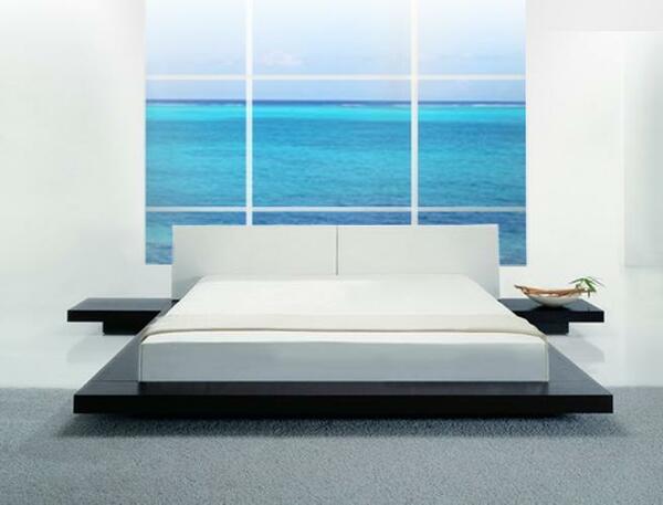 Giường thấp sàn đẹp thanh lịch