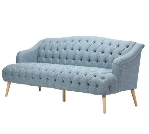 Bàn Ghế Sofa Gỗ Tự Nhiên Màu Xanh