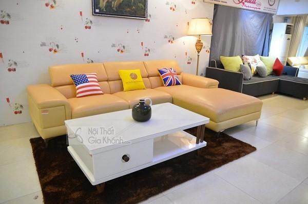 Bàn Ghế Sofa Gỗ Tự Nhiên Màu Vàng