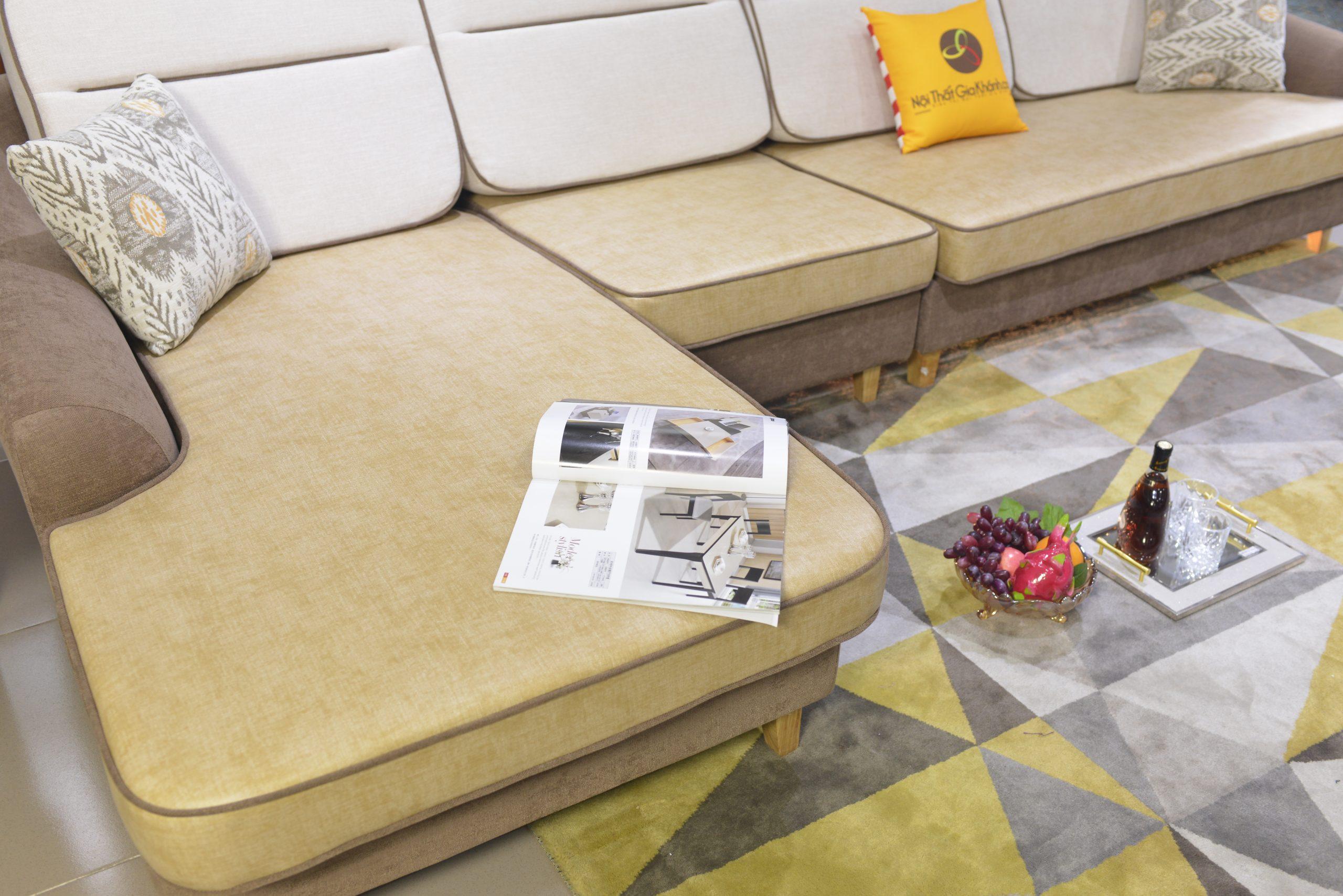 Sofa 3 Băng Góc Trái Nỉ Nano Cao Cấp Sp1607-3
