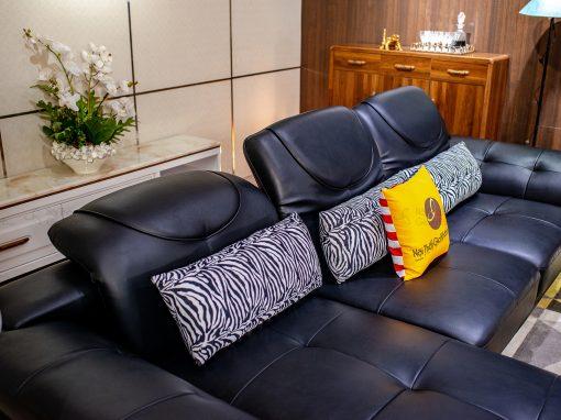 Sofa Da Nâu Cafe 2 Băng Góc Trái 9193N-Sf C1020