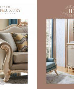 Bộ sofa Luxury SG9809 phong cách sang trọng băng 1+2+3