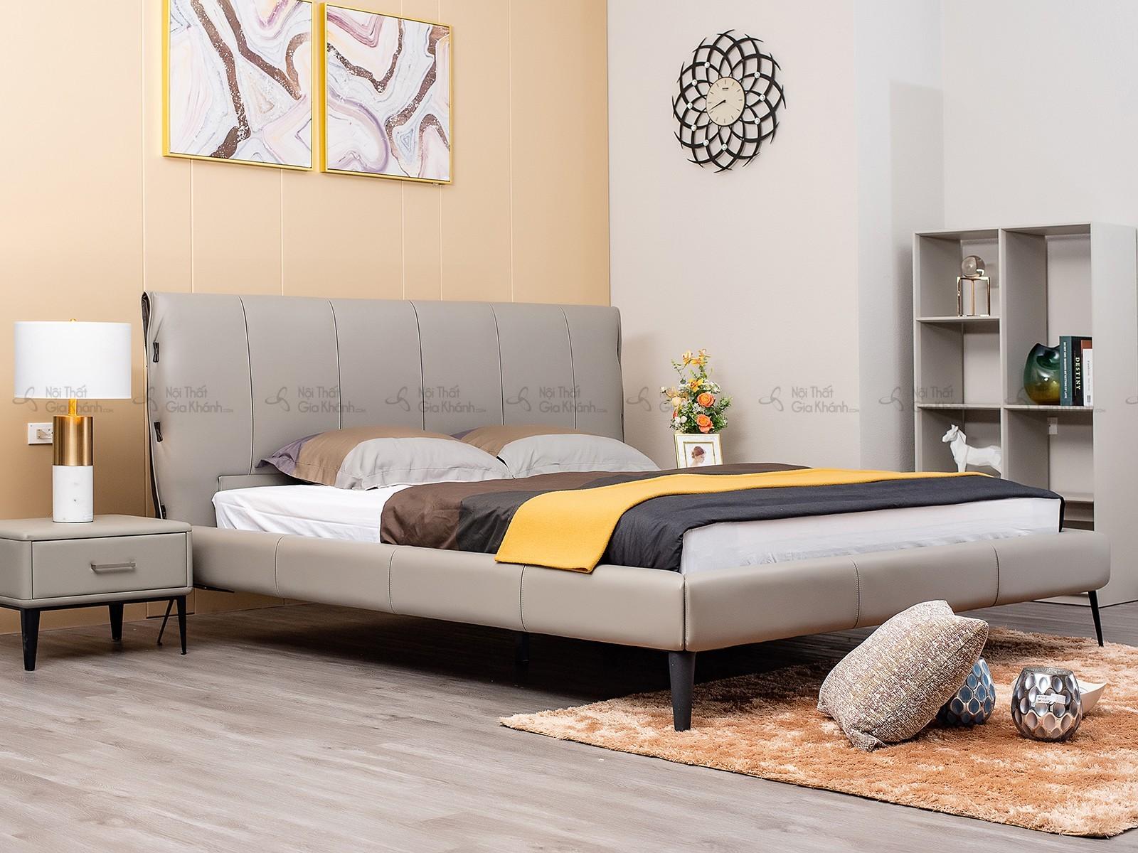 Giường ngủ hiện đại da thật cao cấp GI1727T