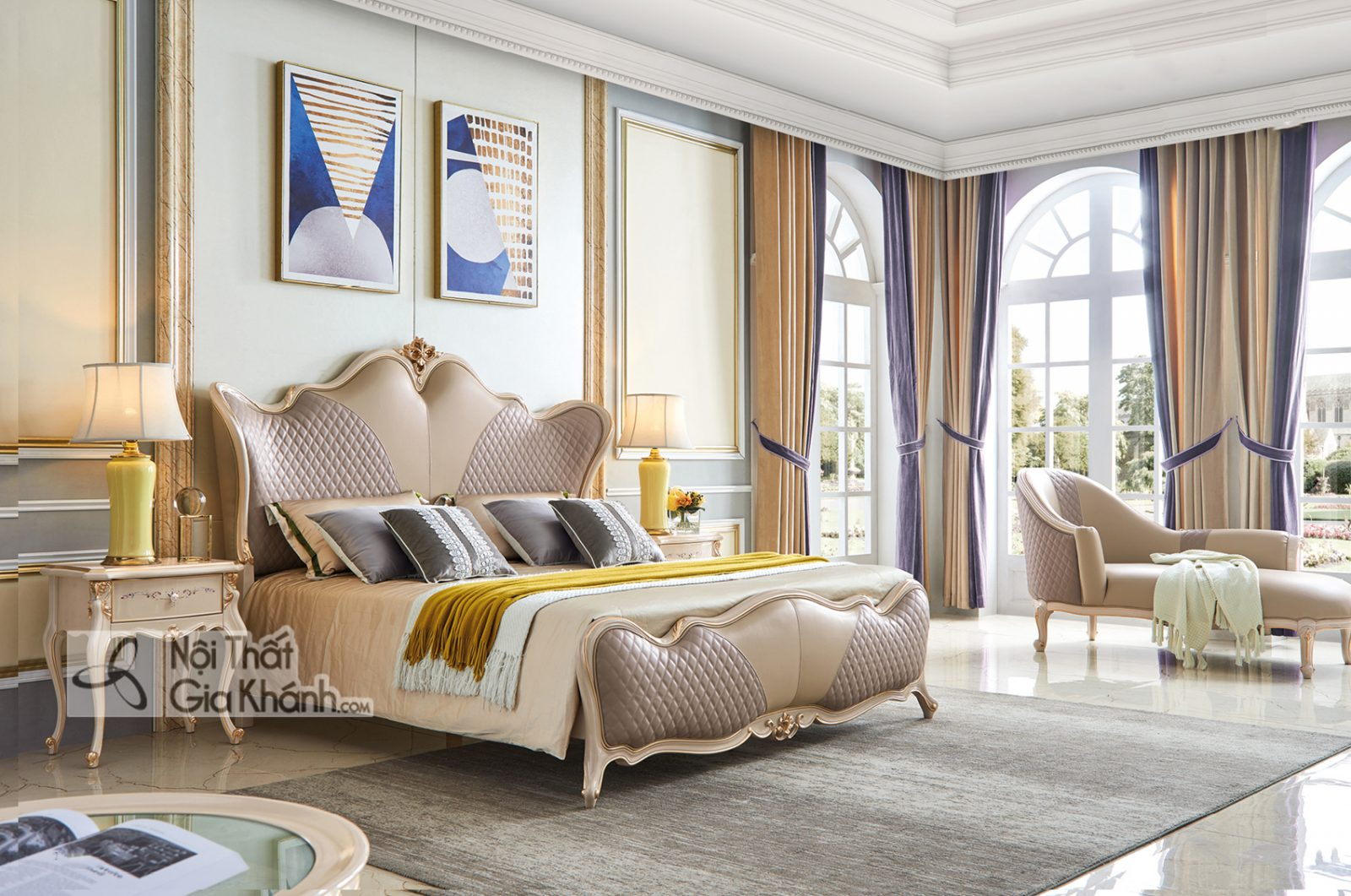 Giường ngủ Luxury GI9801H-18 phong cách sang trọng