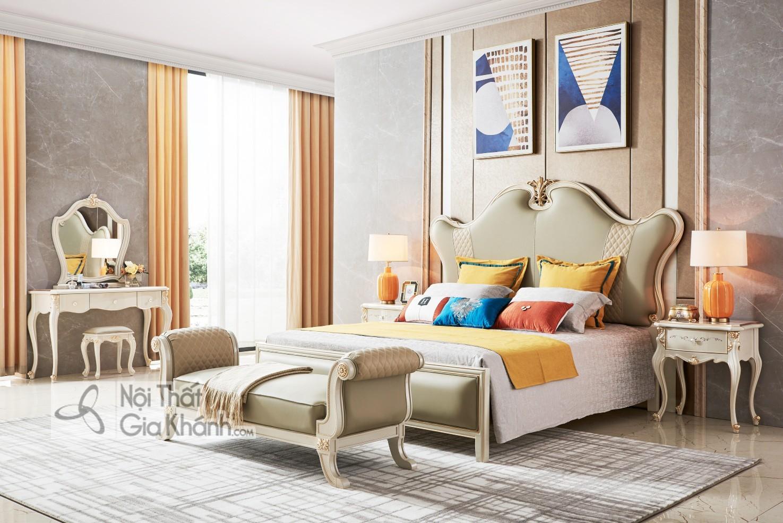 Giường ngủ Luxury GI9802H-15 phong cách sang trọng