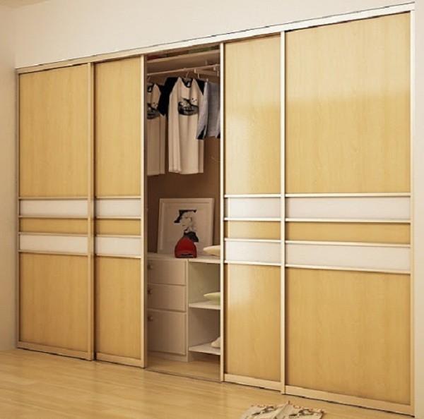 Mẫu tủ quần áo âm tường gỗ tự nhiên, gỗ công nghiệp hiện đại