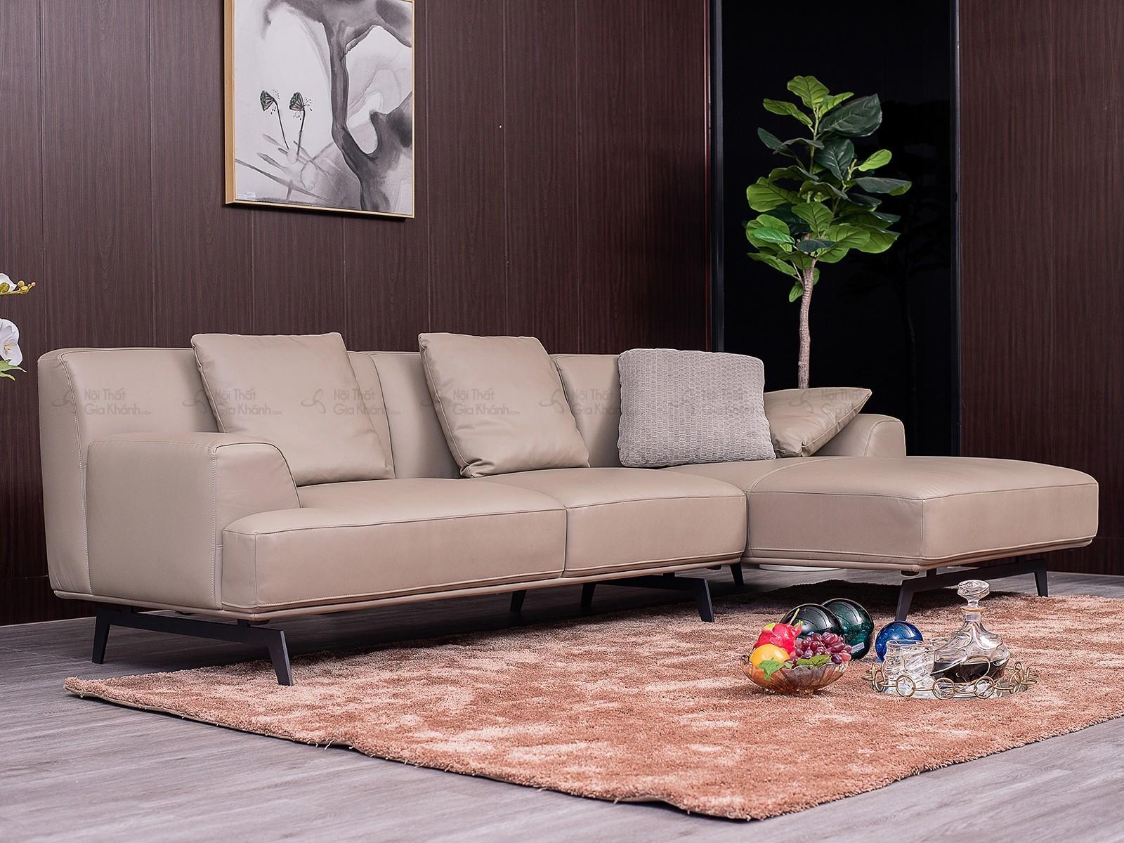 Sofa Da Chữ L Nhập Khẩu Phong Cách Ý St8037T50-2