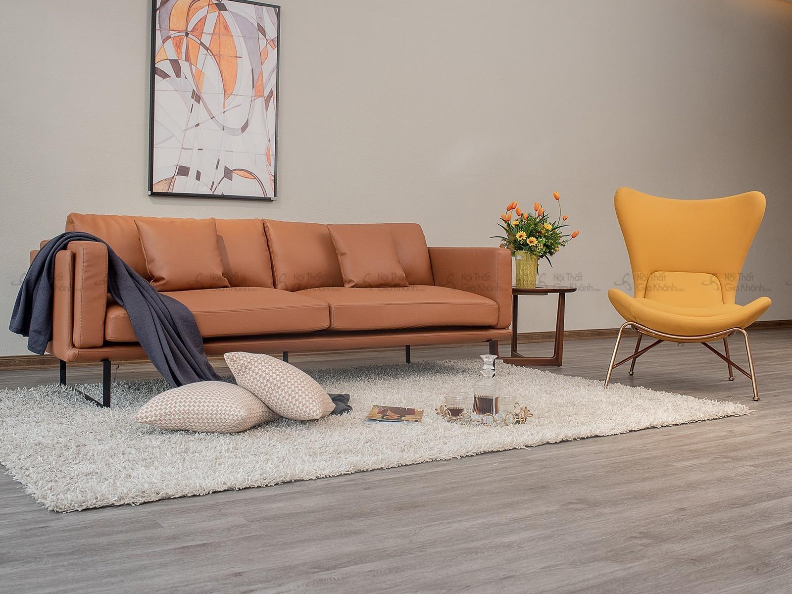 Sofa Da Nhập Khẩu Phong Cách Ý Băng 3 Sb0064T50-3