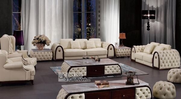 Bộ nội thất phong cách hiện đại cho phòng khách sang chảnh