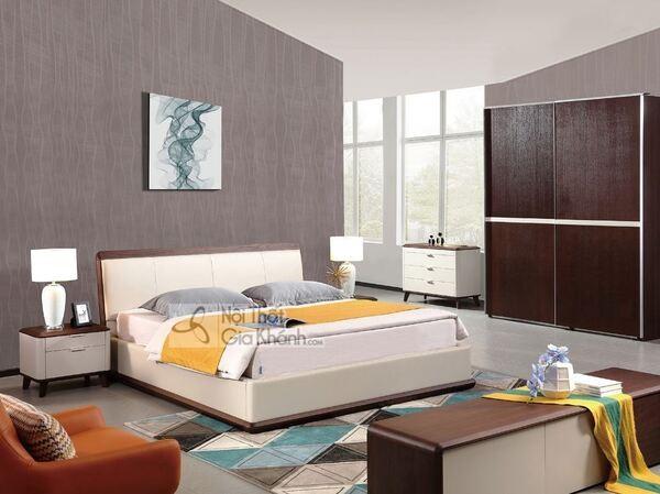 Bộ phòng ngủ với các sản phẩm nội thất phong cách hiện đại