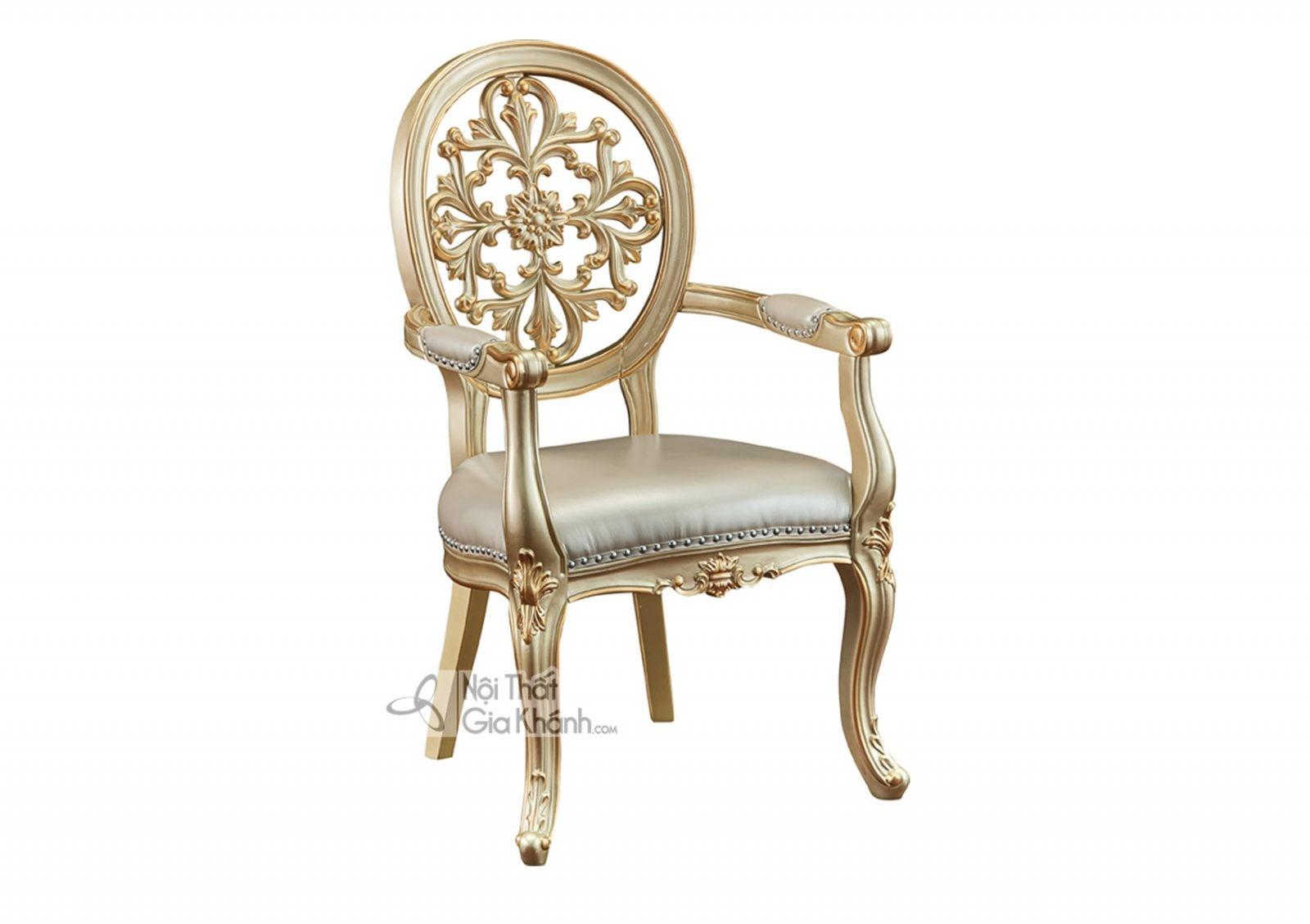 Ghế Có Tay Tân Cổ Điển Màu Vàng Rượu Sampanh Gv8801A Nhập Khẩu