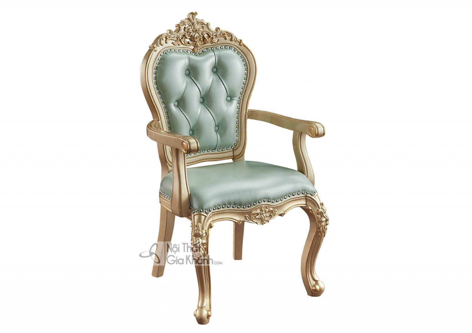 Ghế có tay Tân cổ điển màu vàng rượu Sampanh GV8805A tinh tế