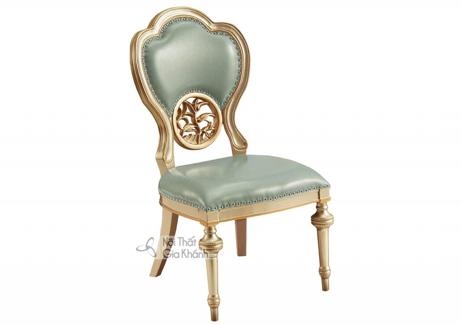 Ghế không tay Tân cổ điển màu vàng rượu Sampanh GA8810A phong cách tinh tế