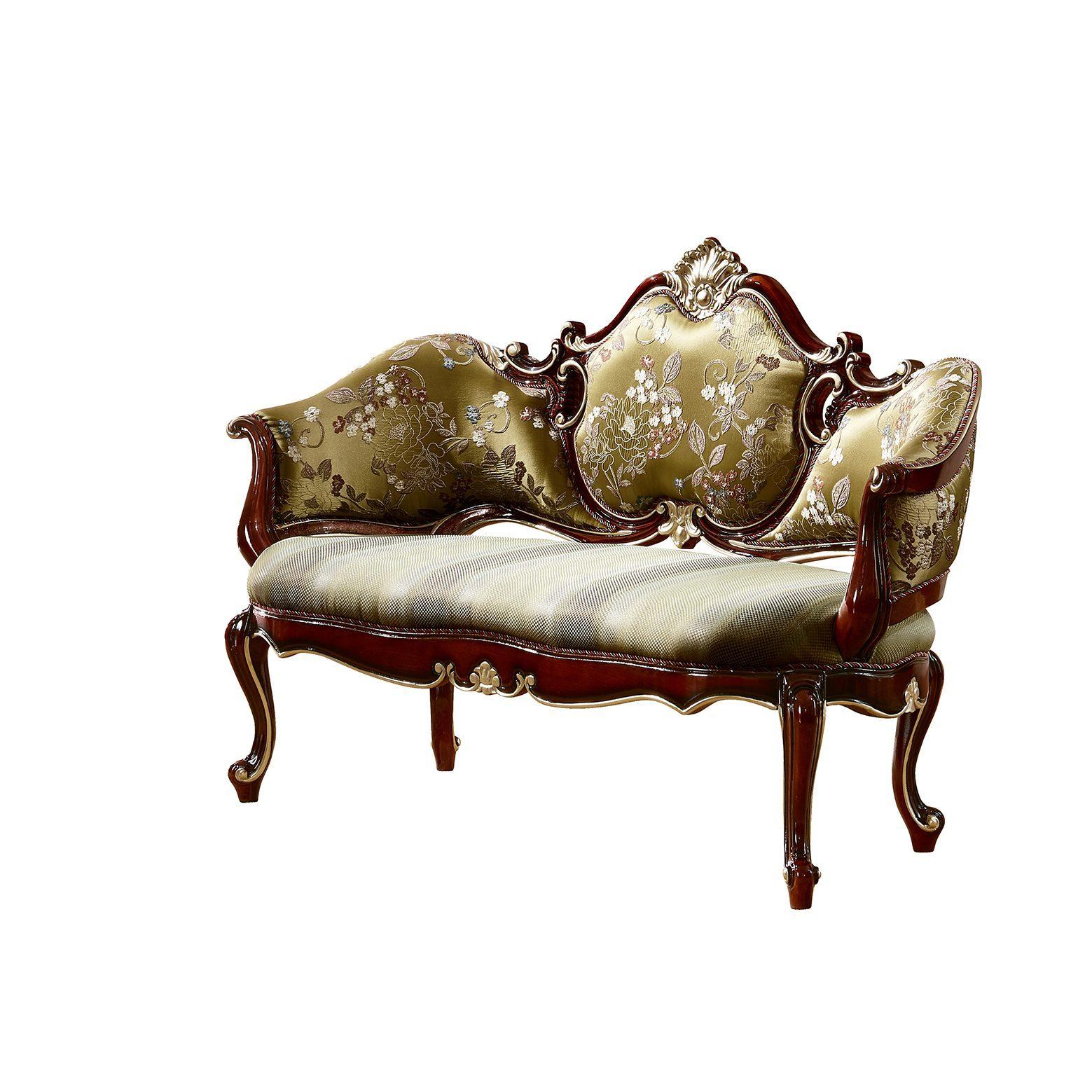 Ghế phòng chờ Tân cổ điển màu rượu vang nho GC8801G phong cách Quý tộc