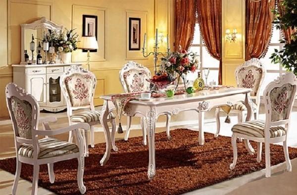 Những kiểu bàn ăn hình chữ nhật đẹp nhất