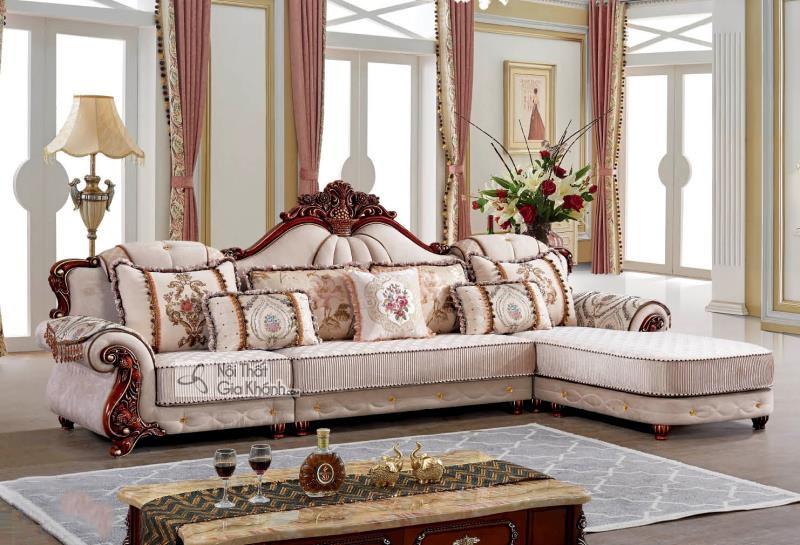 Bộ Sofa Vải Tân Cổ Điển Cao Cấp Góc Trái St9802B-3