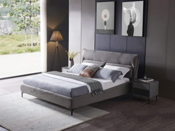 Giường gỗ bọc vải cao cấp hiện đại GILB610-18