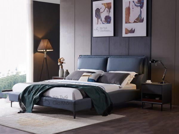 Giường gỗ bọc vải phong cách hiện đại GILB611-18
