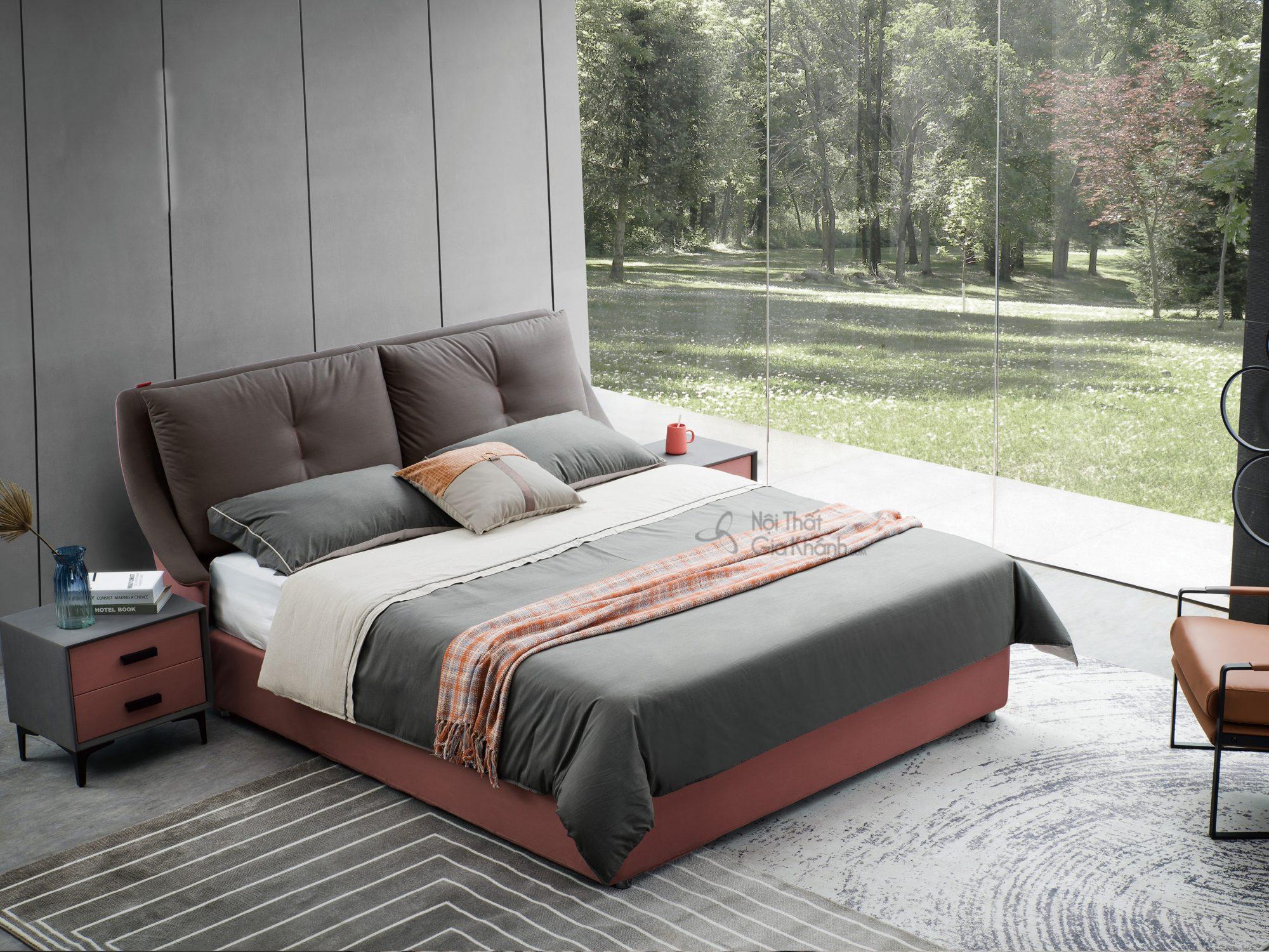Giường gỗ hiện đại king size GILB606-18
