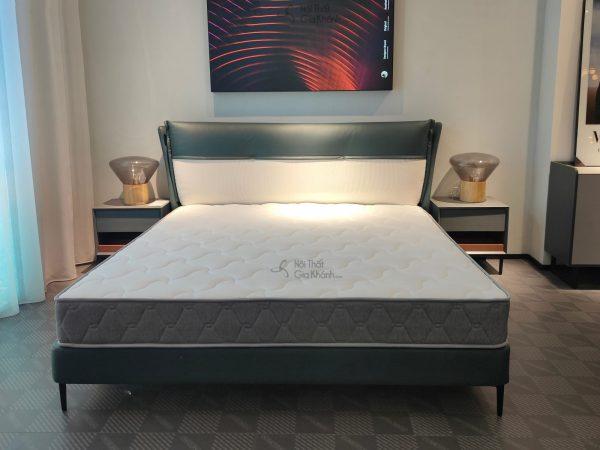 Giường gỗ sồi 1m8 bọc vải GIC606-18f