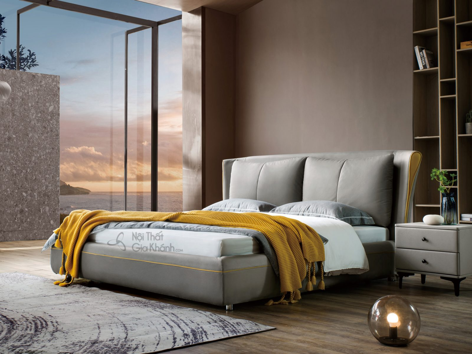 giường king size hiện đại GILB605-18