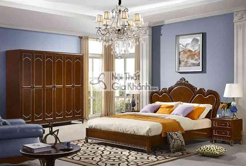29980BG Bo phong ngu - Giường ngủ 1m8 tân cổ điển gỗ Đỏ cao cấp 29980A