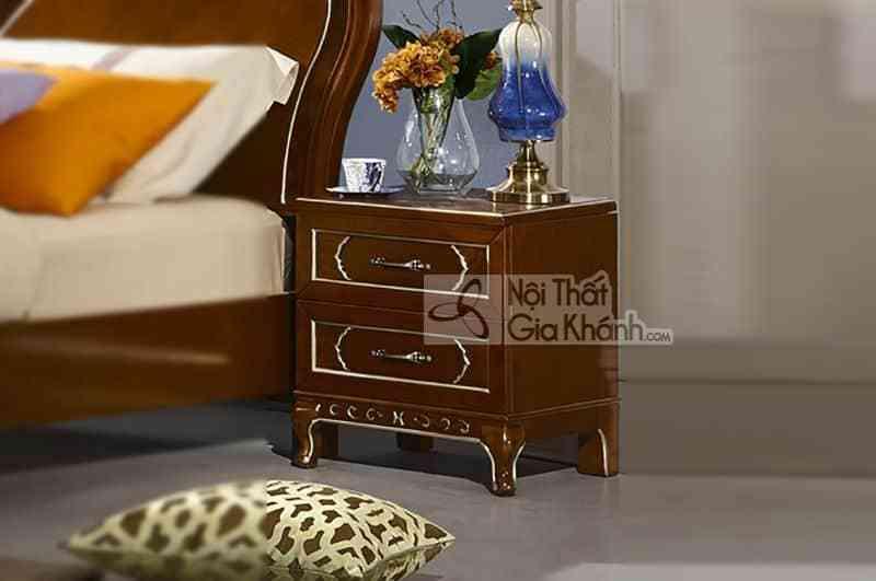 Bộ phòng ngủ tân cổ điển gỗ Đỏ màu nâu cao cấp 29980BG