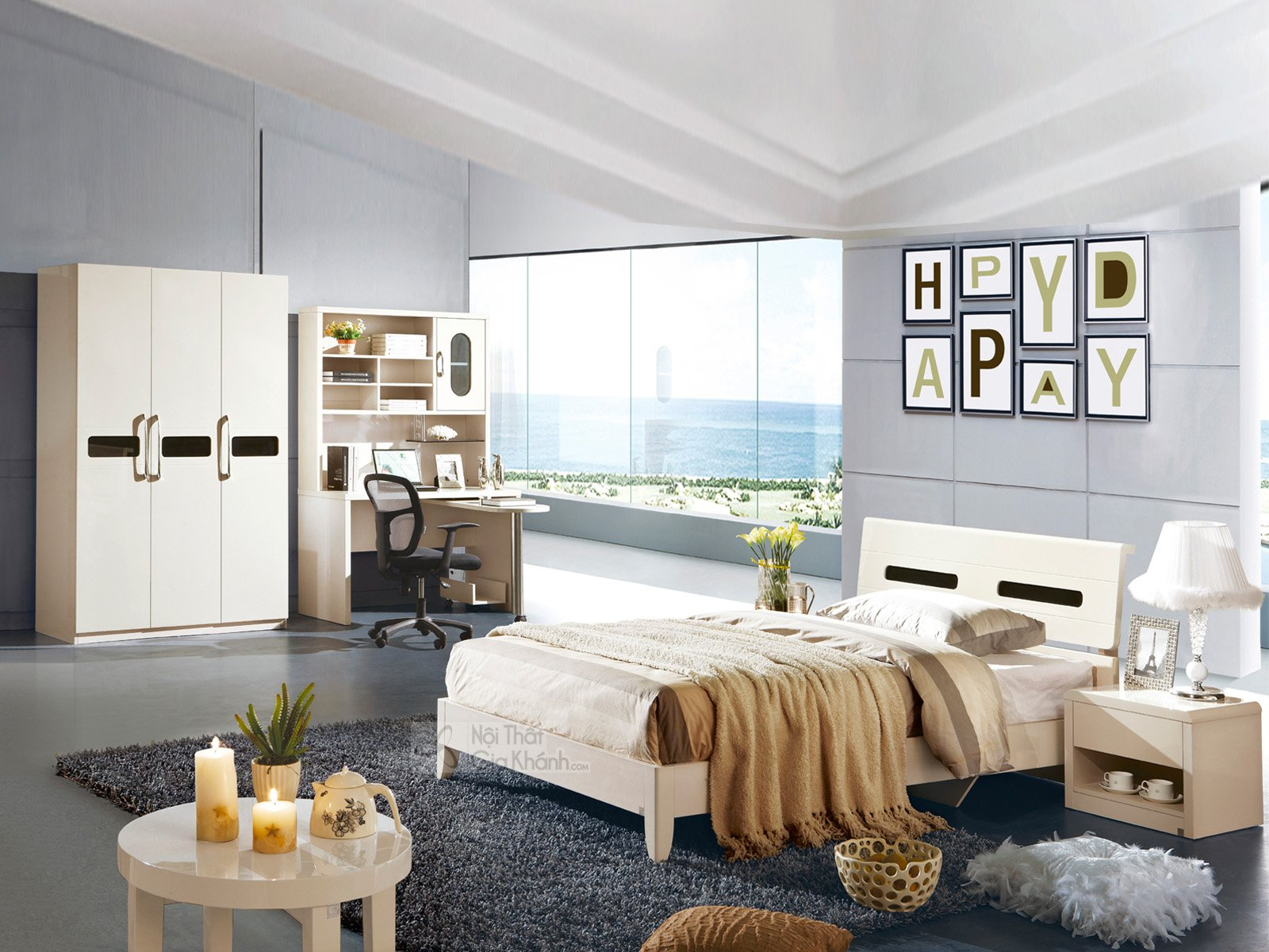 Tủ gỗ đầu giường đơn giản phong cách hiện đại TA3311A