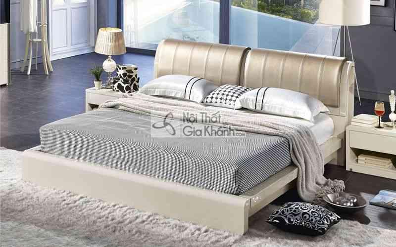 Giường Ngủ Bọc Nệm Gỗ Tự Nhiên Hiện Đại Cao Cấp 3308Al
