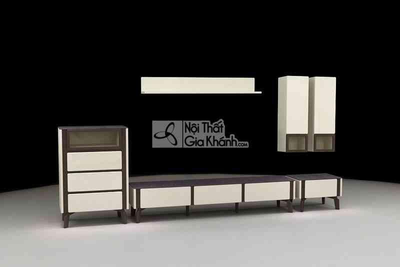 Bộ kệ Tivi phòng khách gỗ hiện đại cao cấp mặt kính cường lực BK3325