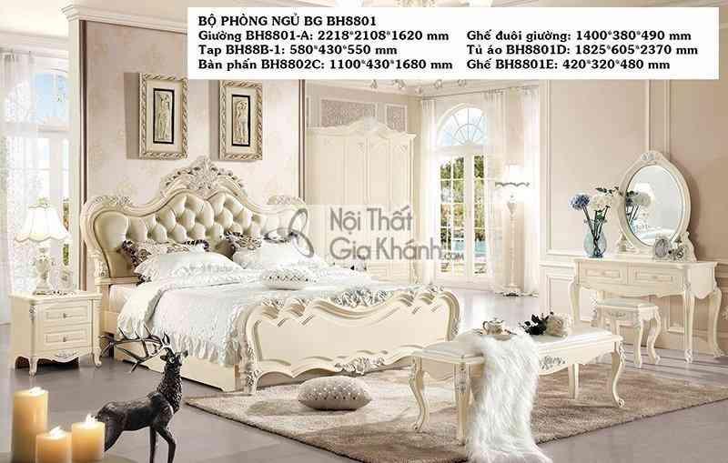 Giường Ngủ Tân Cổ Điển Sang Trọng Bh8801Al
