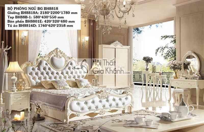 Giường Ngủ Phong Cách Tân Cổ Điển Hoàng Gia Bh8818Al