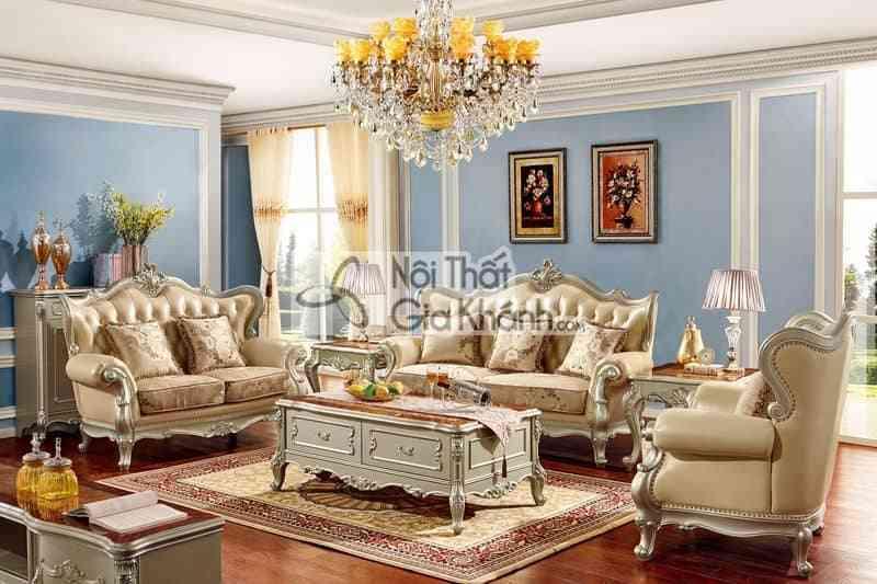 Bàn trà (Bàn Sofa) gỗ cho phòng khách tân cổ điển GK8801BT1.6