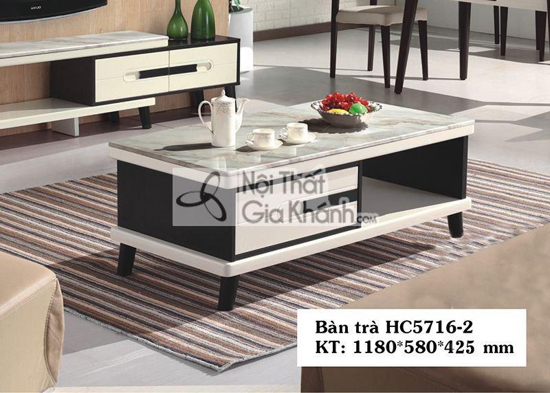 Bàn trà (Bàn Sofa) hiện đại gỗ mặt đá 1m18 sang trọng HC5716-2
