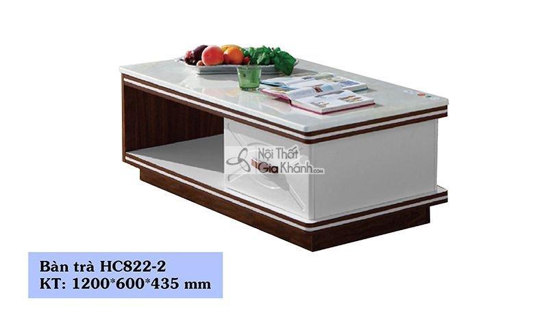 Bàn trà (Bàn Sofa) gỗ phòng khách mặt đá 1m2 hiện đại HC822-2