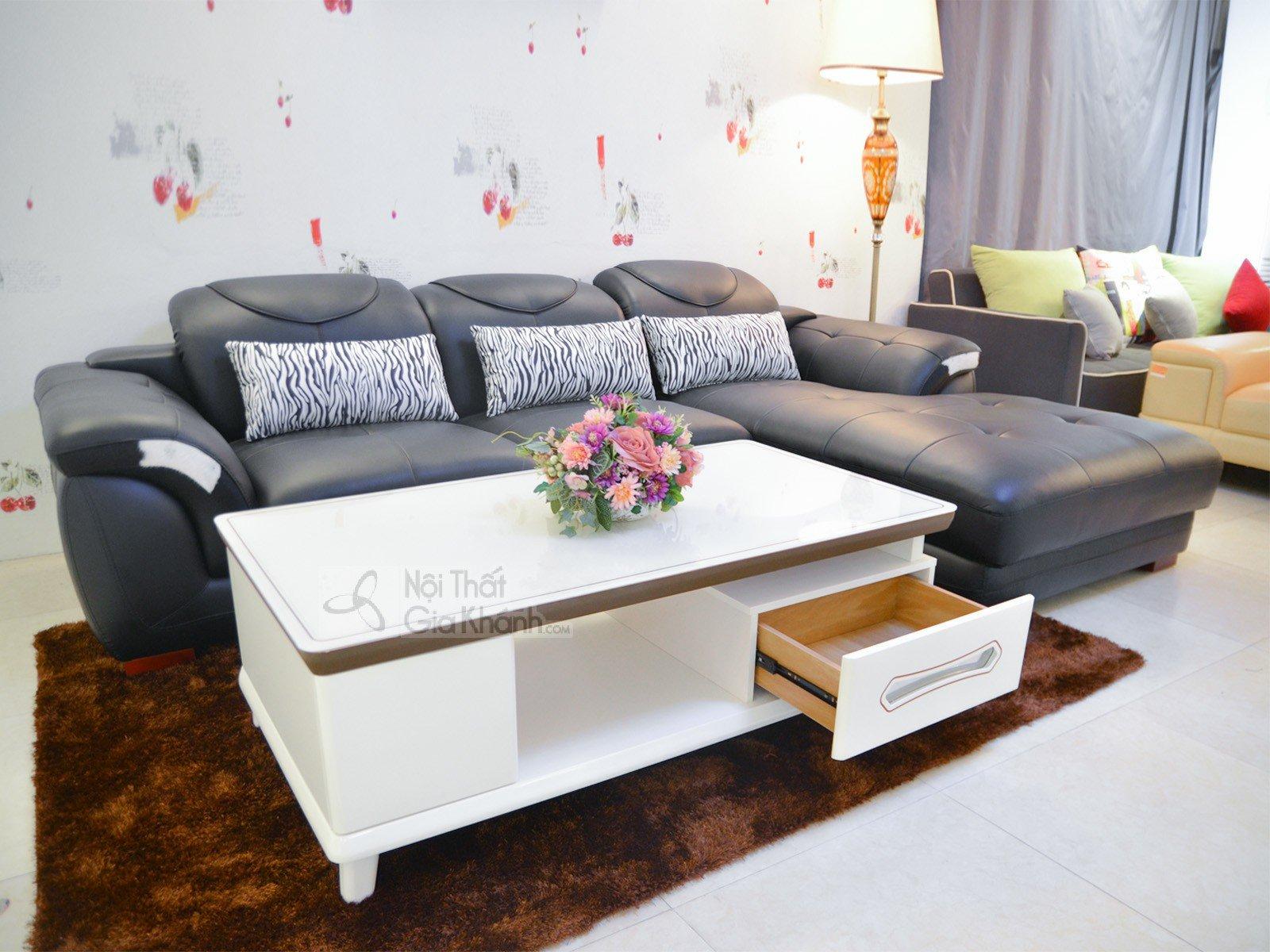 Sofa da phòng khách 2 băng góc trái ST0919-2-C1