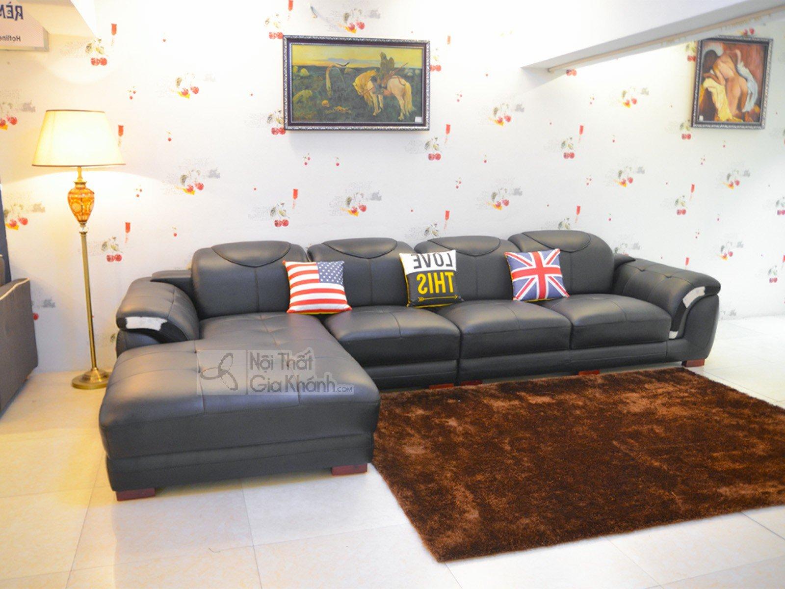 Sofa Màu Đen 3 Băng Góc Phải 9192D-Sf