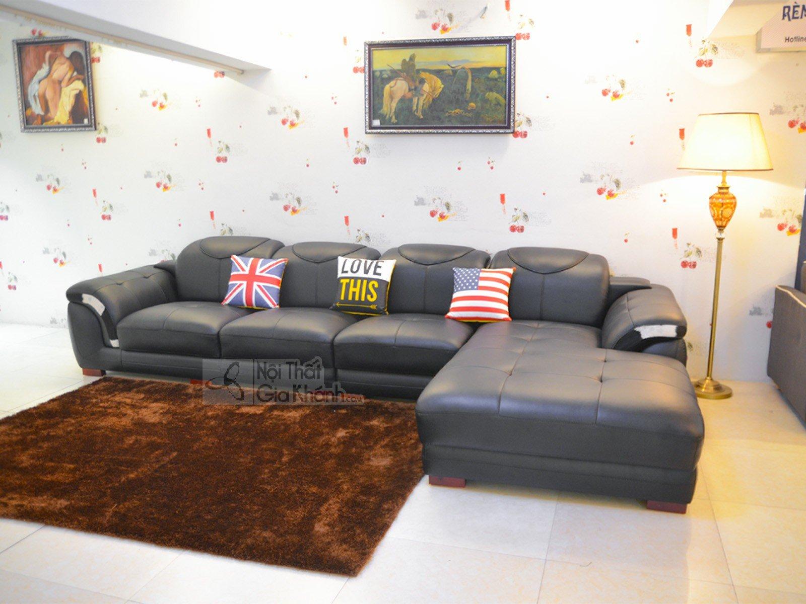Sofa Da Màu Đen 3 Băng Góc Trái 9192D Sf 1