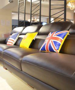 Sofa chữ L bằng da phong cách hiện đại SP0933-3-A1