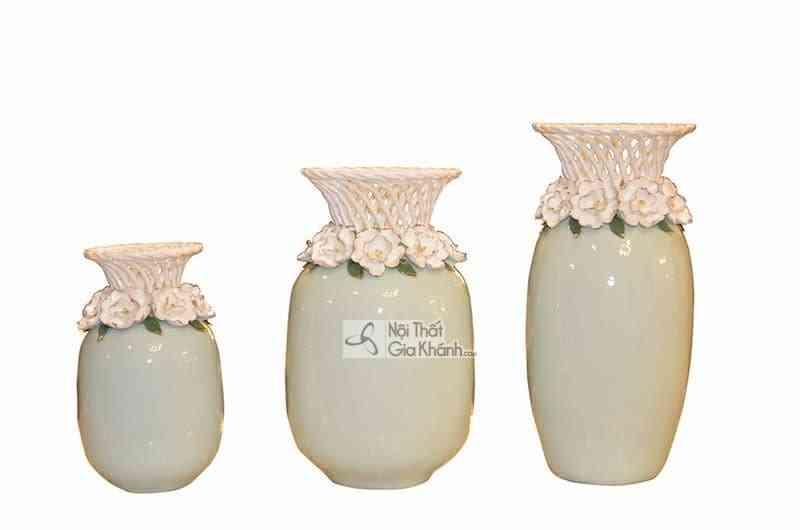 Bộ ba bình hoa trang trí nghệ thuật Y50-762